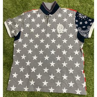 PEARLY GATES - Russaluno  ラッセルノ アメリカ 星条旗 スター星バンダナポロシャツ6