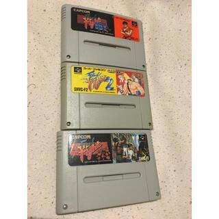 スーパーファミコン(スーパーファミコン)のA21 スーパーファミコン ファイナルファイト3本セット(家庭用ゲームソフト)