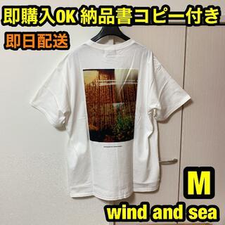 M 白 wind and sea ORNAMENT オーナメント フォトTシャツ