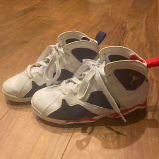 ナイキ(NIKE)のエア ジョーダン 7 レトロ GS オリンピック/ホワイト×ブルー×レッド(スニーカー)