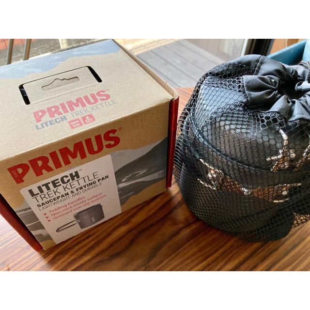 PRIMUS(プリムス)のPRIMUS プリムス ライテックトレックケトル&パン 未使用 登山 ソロキャン スポーツ/アウトドアのアウトドア(登山用品)の商品写真