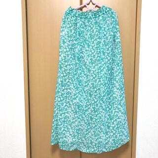 サマンサモスモス(SM2)のSM2*blue 花柄ロングスカート(ロングスカート)