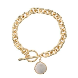 ALEXIA STAM - Pearl Toggle Clasp Bracelet Gold