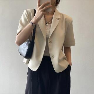 ザラ(ZARA)の半袖 サマージャケット【5color・4size】(テーラードジャケット)