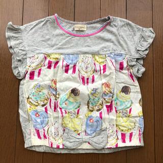 ニットプランナー(KP)のKPトロワラパン カップケーキ柄リボンカットソー 110cm(Tシャツ/カットソー)