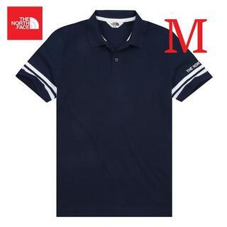 ザノースフェイス(THE NORTH FACE)のノースフェイス ポロシャツ ロゴ刺繡 メンズ 夏 ネイビー M K126B(ポロシャツ)