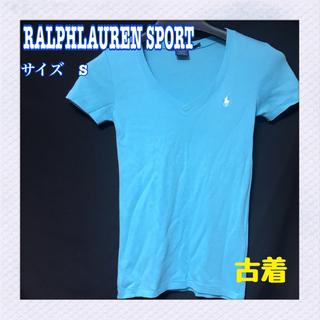 ラルフローレン(Ralph Lauren)のラルフローレンレディースTシャツ  半袖Vネック スポーツ カジュアル 夏物(Tシャツ(半袖/袖なし))
