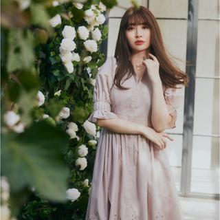 snidel - Her lip to Back Lace Midi Shirt Dress