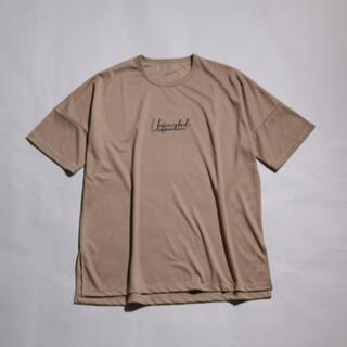 MB刺繍シルキーTシャツ ベージュ L(Tシャツ/カットソー(半袖/袖なし))