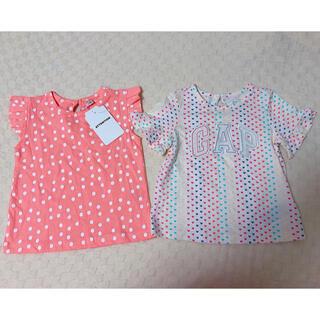 babyGAP - ベビーギャップ 半袖Tシャツ2枚セット ハート ピンク ドット 80