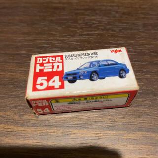 トミー(TOMMY)のカプセルトミカ スバル インプレッサWRX 白色(ミニカー)
