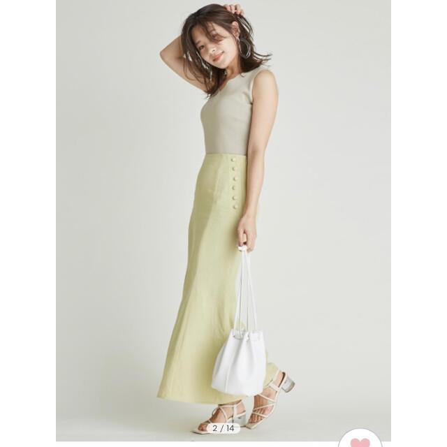 FRAY I.D(フレイアイディー)のFRAY I.D レーヨンリネンナロースカート レディースのスカート(ロングスカート)の商品写真