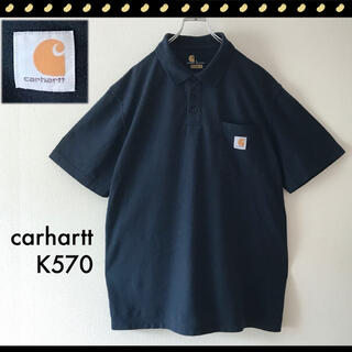 カーハート(carhartt)のカーハート K570★ロゴタグ★ワークポケットポロシャツ★ビッグサイズL(ポロシャツ)