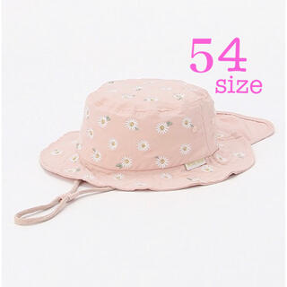 petit main - 【新品】プティマイン 54cm 花柄 ピンク 帽子 花柄 バケットハット