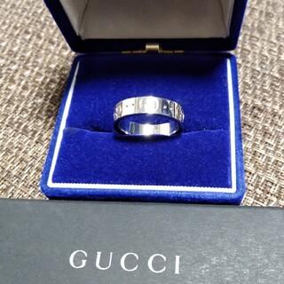 グッチ(Gucci)の値下げ/GUCCIグッチリングK18WG指輪  サイズ8号(日本サイズ約15号)(リング(指輪))