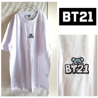 ボウダンショウネンダン(防弾少年団(BTS))のBTS/BT21×WEGO 未使用 ポイント刺繍Tシャツ KOYA RM ナム(Tシャツ(半袖/袖なし))