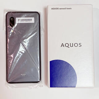 アクオス(AQUOS)のSHARP AQUOS sense3 basic SHV48 ブラック(スマートフォン本体)