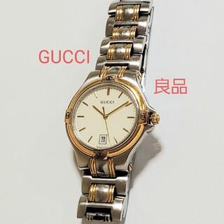 Gucci - GUCCI 良品 デイト アナログ メンズ 腕時計 グッチ 正規品