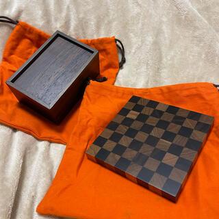 Hermes - レア エルメス 未使用 サマルカンド チェス マホガニー ウッド テーブルゲーム