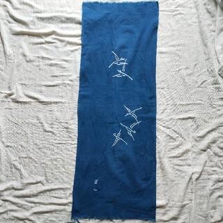 ミツコシ(三越)の竺仙 藍染め手ぬぐい(浴衣)