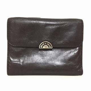 ミュウミュウ(miumiu)のミュウミュウ 3つ折り財布 - レザー(財布)