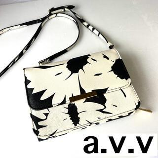 アーヴェヴェ(a.v.v)のショルダーバッグ a.v.v ハンドバッグ ミニバッグ お財布 モノトーン 白黒(ショルダーバッグ)