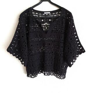 アドーア(ADORE)のアドーア 七分袖セーター サイズ38 M - 黒(ニット/セーター)