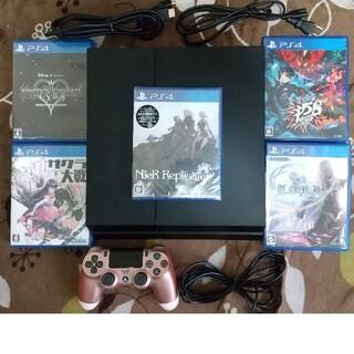 PlayStation4 - ps4本体セット完品+人気ソフト5本すぐに遊べるセット新品ニーアP5スクランブル
