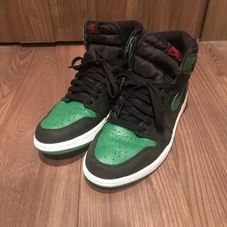 NIKE - 27.5 jordan1 Retro High Pine Green Black