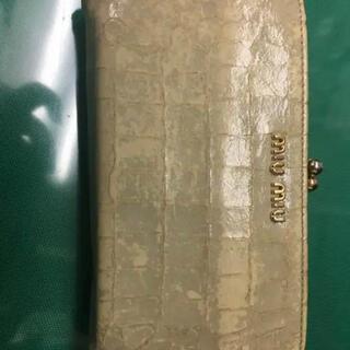 ミュウミュウ(miumiu)のmiumiuがま口財布(財布)