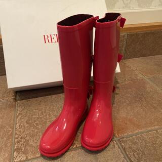 レッドヴァレンティノ(RED VALENTINO)のレッドヴァレンティノ レインブーツ ピンク 36(レインブーツ/長靴)