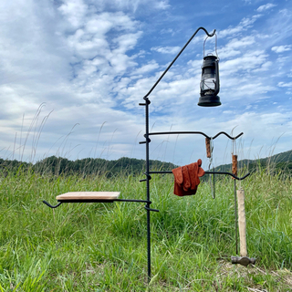 焚き火ハンガー ランタンハンガー フライパン置き 鍋置き キャンプ アウトドア