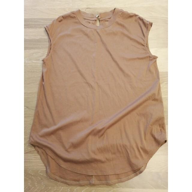 Noble(ノーブル)の【Noble】SLEEVELESS LONG Tシャツ キャメル レディースのトップス(Tシャツ(半袖/袖なし))の商品写真