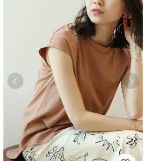 Noble - 【Noble】SLEEVELESS LONG Tシャツ キャメル