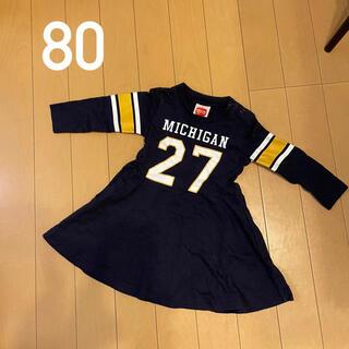 【80cm】NEO FACTORY ワンピース ネイビー(ワンピース)