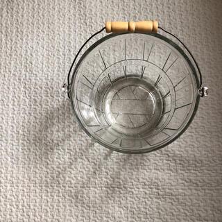 ファイヤーキング(Fire-King)のAnchor hocking ガラス バケツ アイス バスケット クリア(収納/キッチン雑貨)