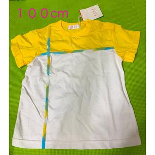 エル(ELLE)の新品 タグ付き ELLE Tシャツ 100cm 男女兼用 ベビー キッズ(Tシャツ/カットソー)