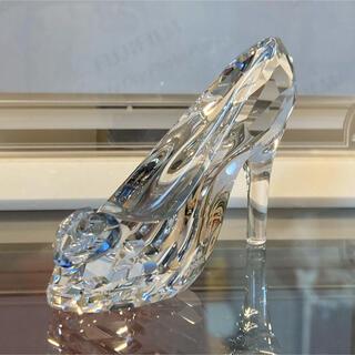 スワロフスキー(SWAROVSKI)のスワロフスキー ディズニー ガラスの靴 6/22迄値下げ価格(置物)