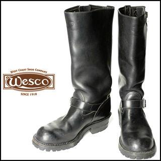 ウエスコ(Wesco)の■旧ロゴWESCO/ウエスコBOSSバイカーレザーエンジニアブーツ8/JP26㎝(ブーツ)