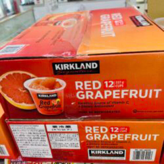 コストコ(コストコ)のコストコ カークランド レッドグレープフルーツシロップ漬け 1箱(フルーツ)