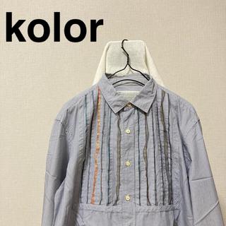 kolor - kolor カラー ストライプ フリルシャツ S-M