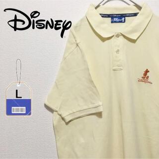 ディズニー(Disney)のディズニー Disney ポロシャツ 刺繍ロゴ 東京 ハーフボタン 古着(ポロシャツ)