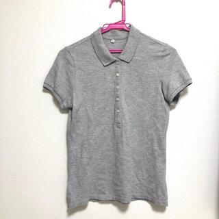 ムジルシリョウヒン(MUJI (無印良品))のポロシャツ  無印 レディース  グレー 無印良品(ポロシャツ)