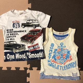 ブランシェス(Branshes)のブランシェスなど★ Tシャツ・タンクトップ 2枚セット 90cm(Tシャツ/カットソー)