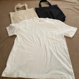 MUJI (無印良品) - レディース メンズ トートバッグ バッグ Tシャツ トップス 半袖 無印 半袖