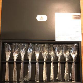 ムジルシリョウヒン(MUJI (無印良品))の【新品】燕 スプーン フォーク 10本セット(カトラリー/箸)