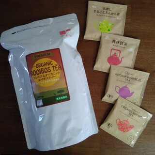 ティーライフ(Tea Life)のティーライフプレミアムオーガニックルイボスティー 90個入&4種アソート 4個入(健康茶)