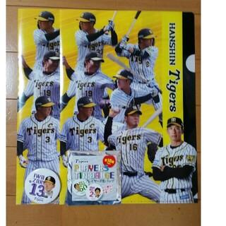 ハンシンタイガース(阪神タイガース)の阪神タイガース クリアファイル2枚 缶バッチ(記念品/関連グッズ)