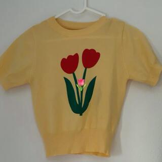 スタイルナンダ(STYLENANDA)のチューリップ黄色サマーニット(Tシャツ(半袖/袖なし))