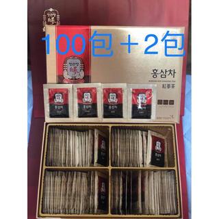 韓国 正官庄 6年根 高麗人参茶 3g× 100包+2包(健康茶)